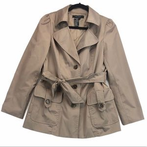 Sandro Paris Neutral Trench Coat Medium